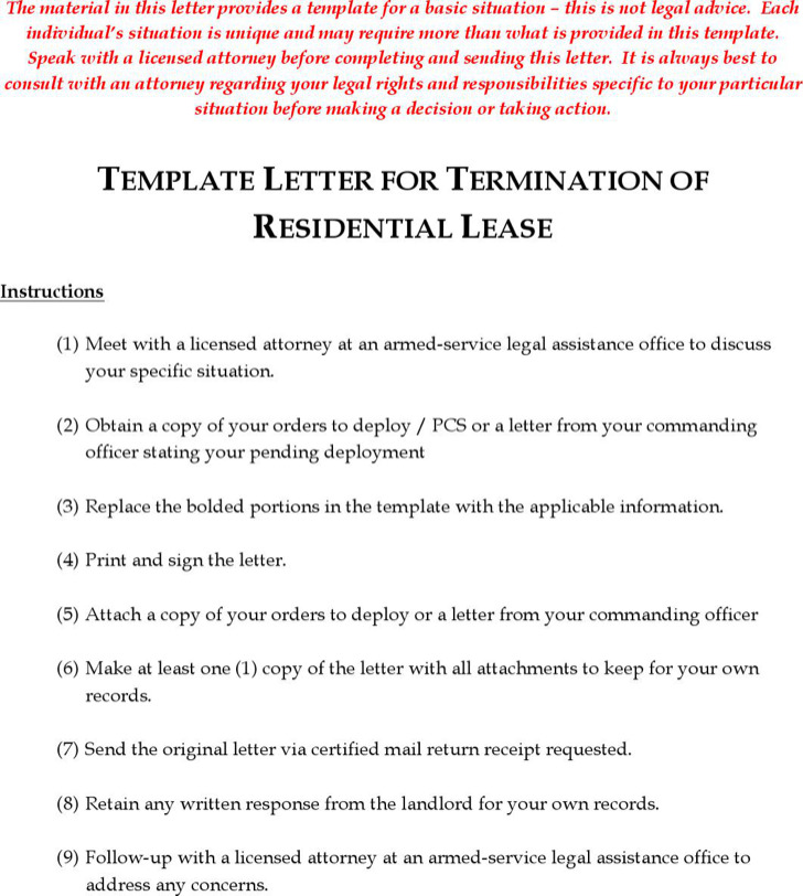 Termination Letters | Download Free & Premium Templates, Forms