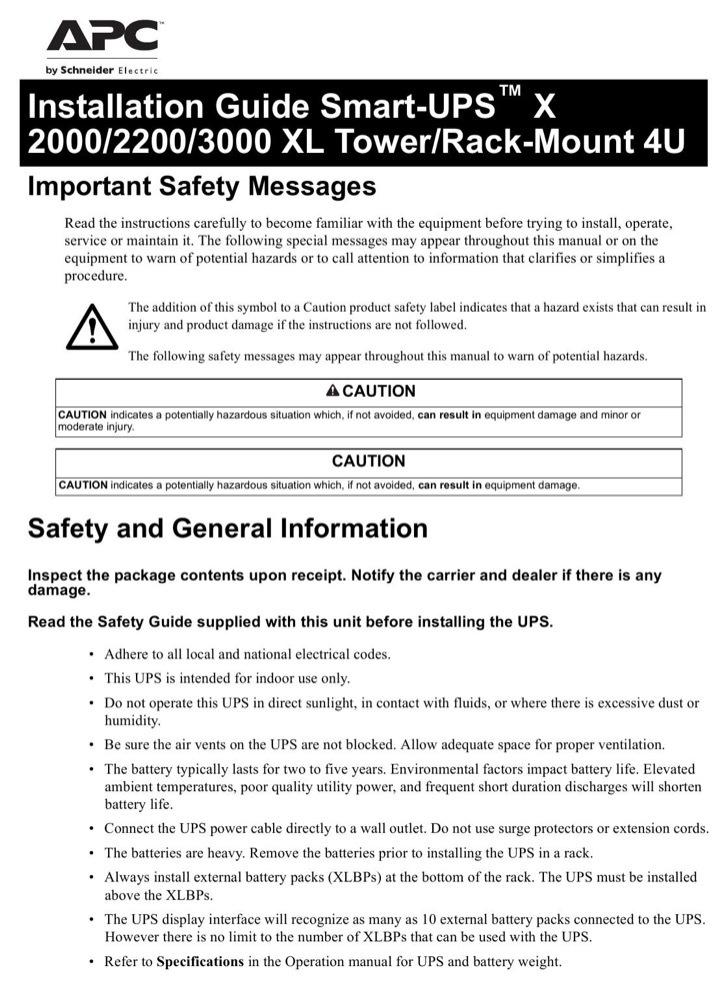 APC User's Manual Sample