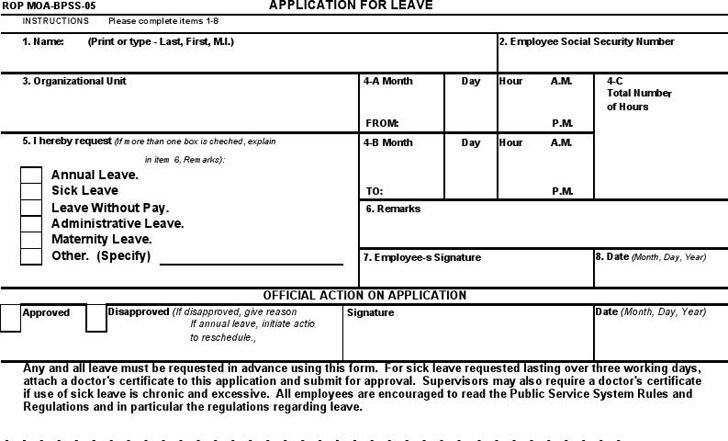 Application for Leave 1