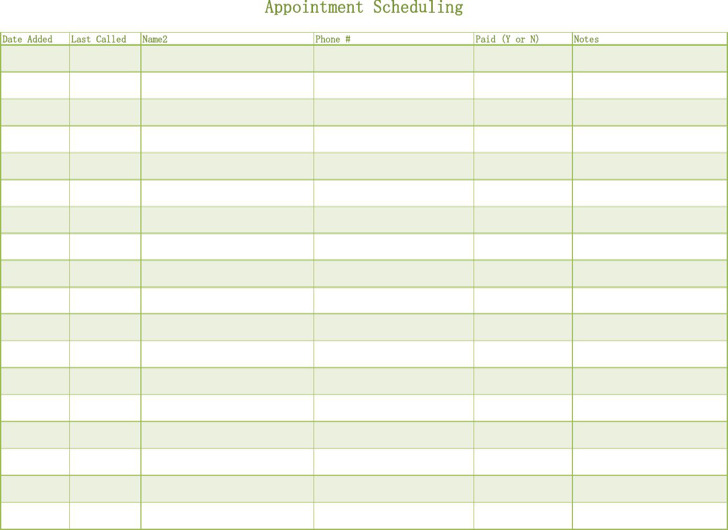 Appointment Schedule Template | Download Free & Premium Templates ...