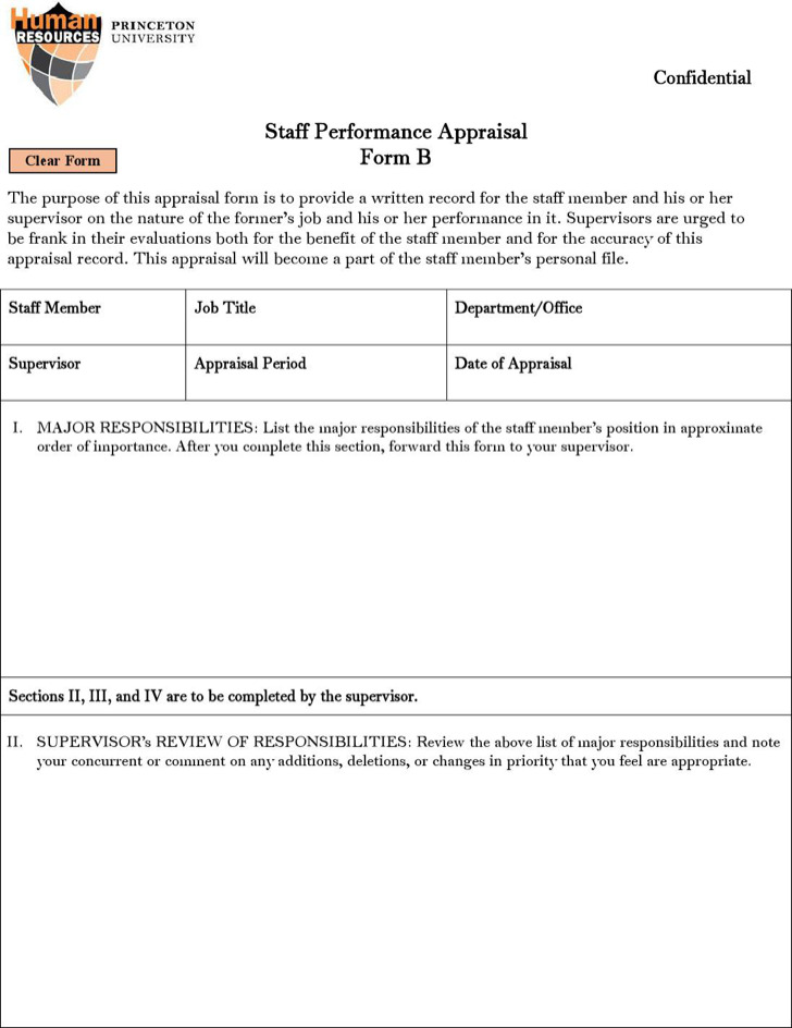 Sample Hr Appraisal Forms  Download Free  Premium Templates