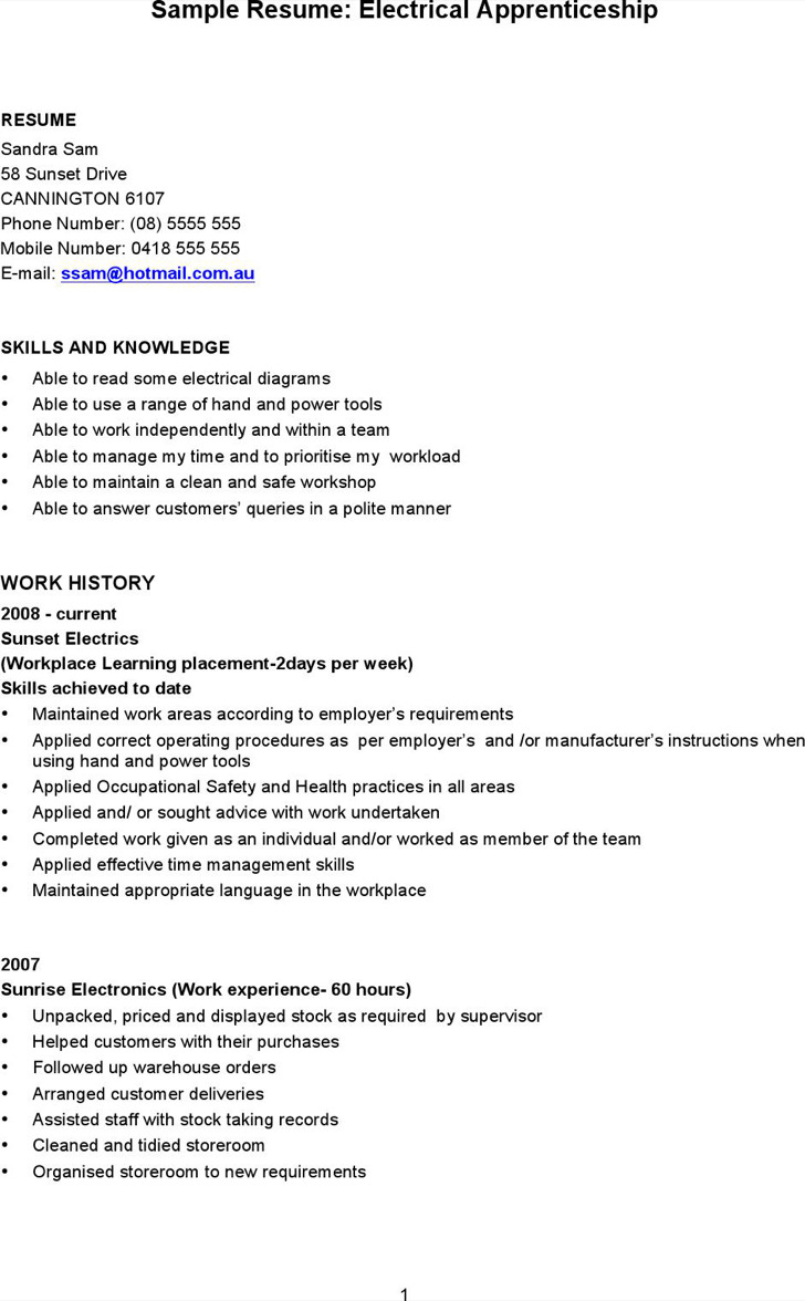 5 Electrician Resume Templates Free Download