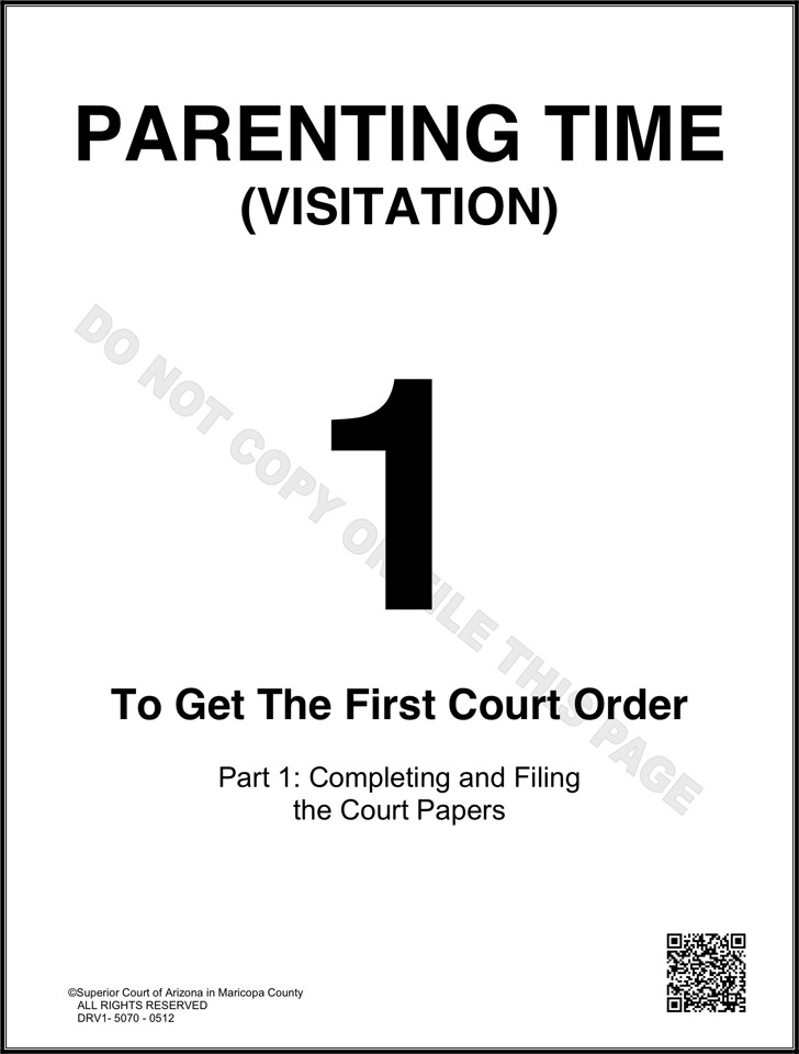 Arizona Child Custody Form