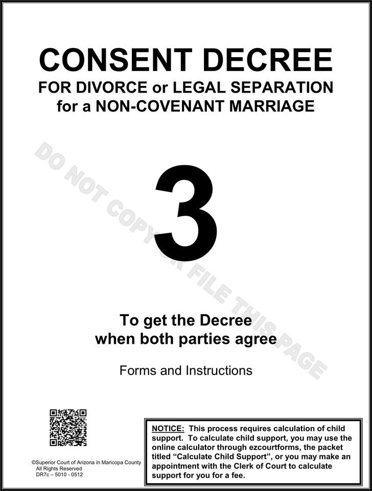 Arizona Separation Agreement Template