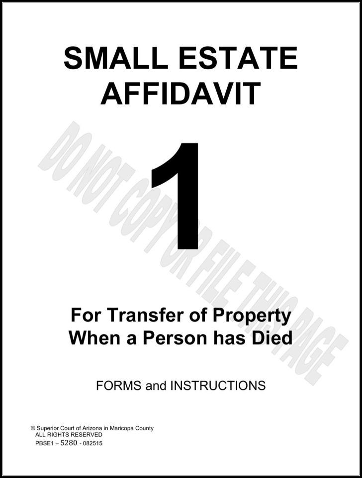 Arizona Small Estate Affidavit Form