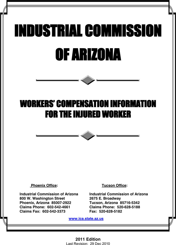 Arizona WorkerS Compensation Form  Download Free  Premium