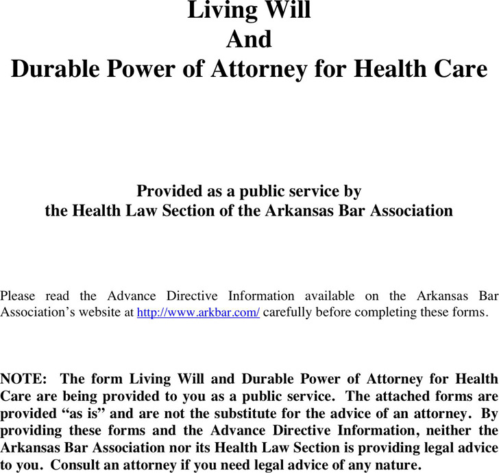Arkansas Advance Directive Form  Download Free  Premium