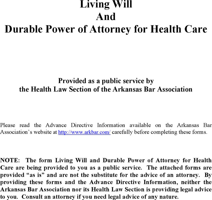 Virginia Advance Directive Durable Power Of Attorney For Health
