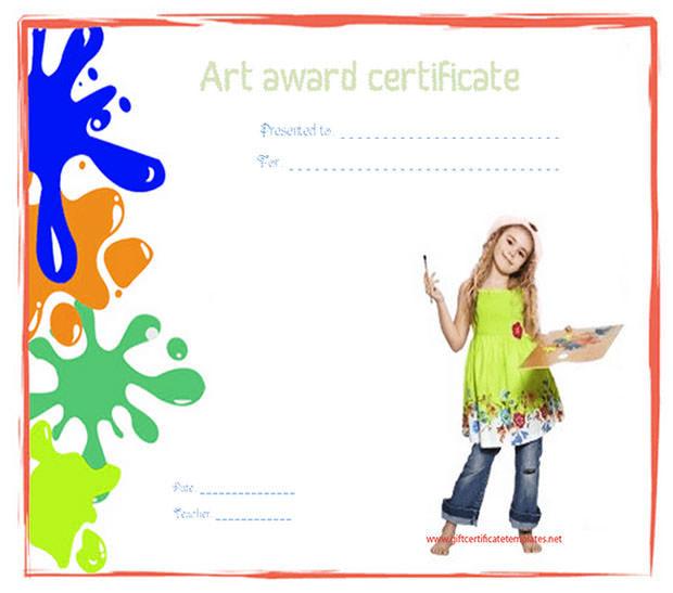 Art Award Certificate Template