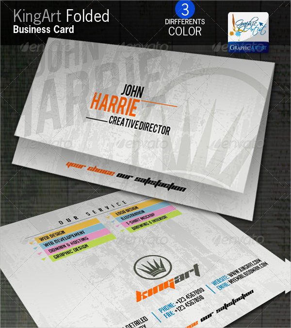 Art Folded Business Card