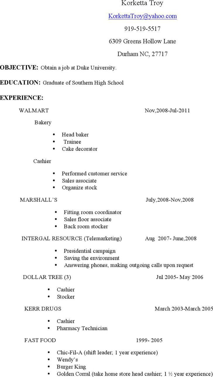 Associate Stocker Resume