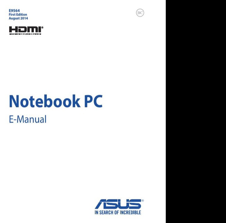 ASUS User's Manual Sample