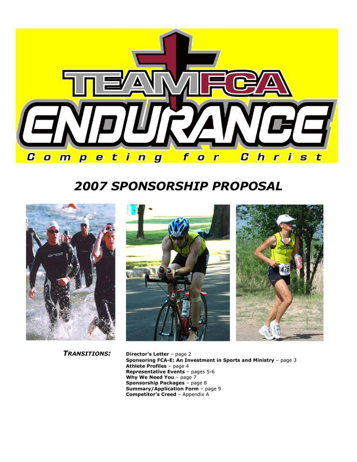 Athlete Sponsorship Proposal PDF Download