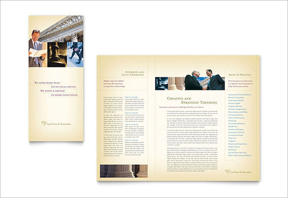Attorney & Legal Services Brochure Template