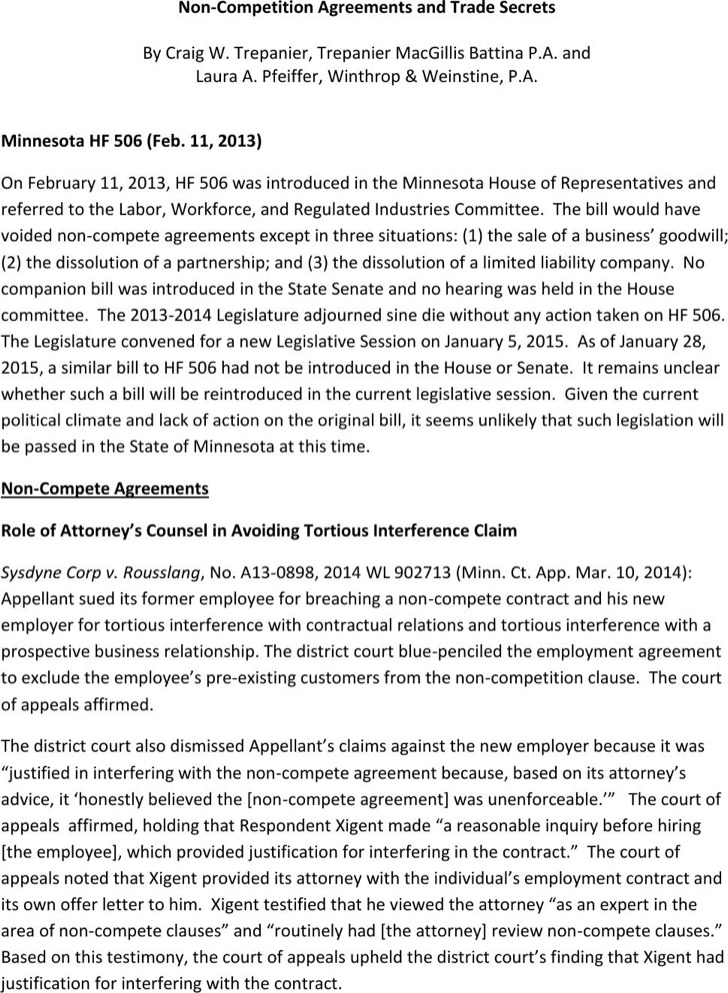 Sample Employee NonCompete Agreements  Download Free  Premium
