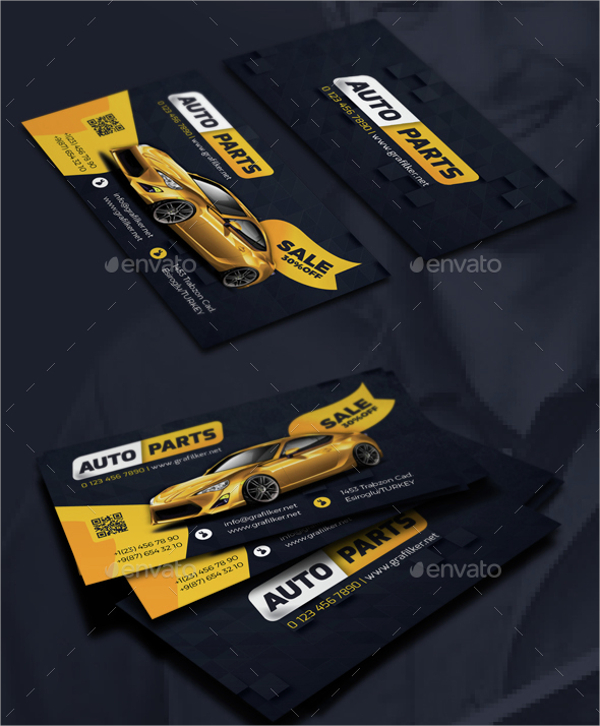 Auto Spare Parts Business Card