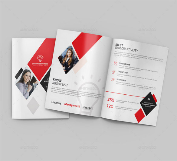 Awesome Bi-fold Brochure Template Photoshop PSD