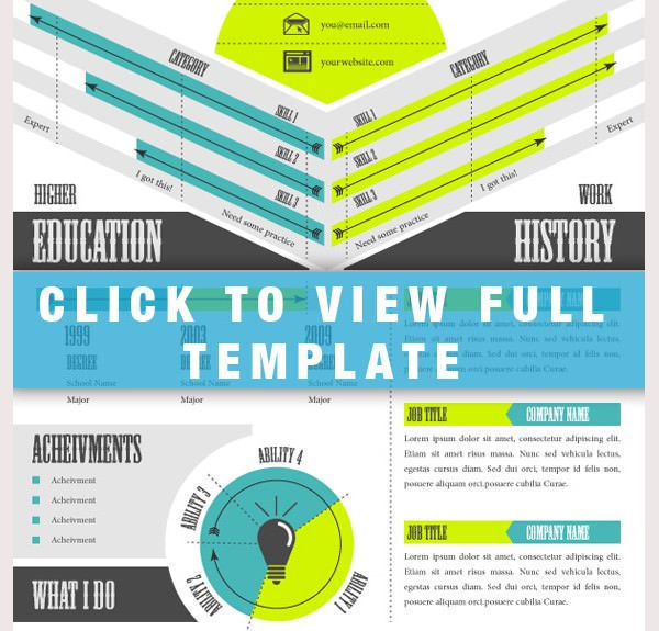 Infographic Resume Templates  Download Free  Premium Templates