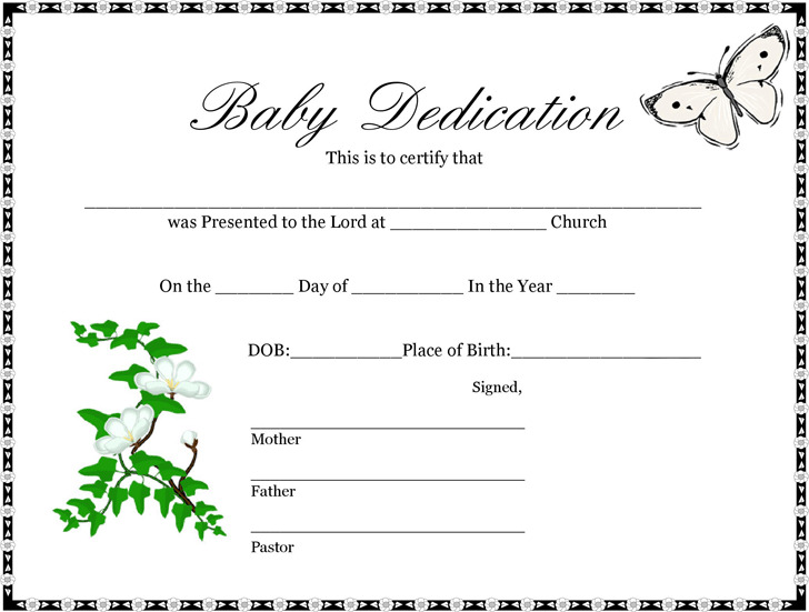 Baby Certificate  Download Free  Premium Templates Forms