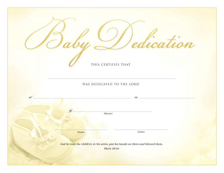 graphic about Printable Baby Dedication Certificate titled 18+ Kid Devotion Certification Template Free of charge Obtain