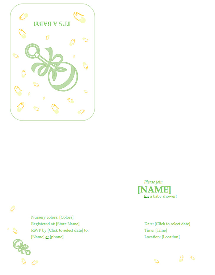 Baby Shower Invitation Template 1