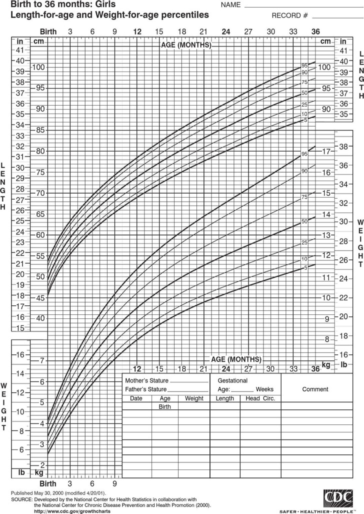 Sample Baby Height Weight Charts  Download Free  Premium