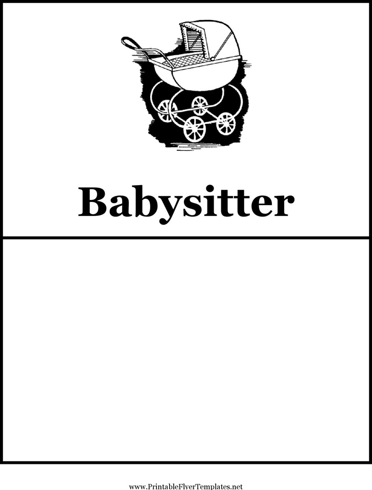 Babysitting Flyer  Download Free  Premium Templates Forms