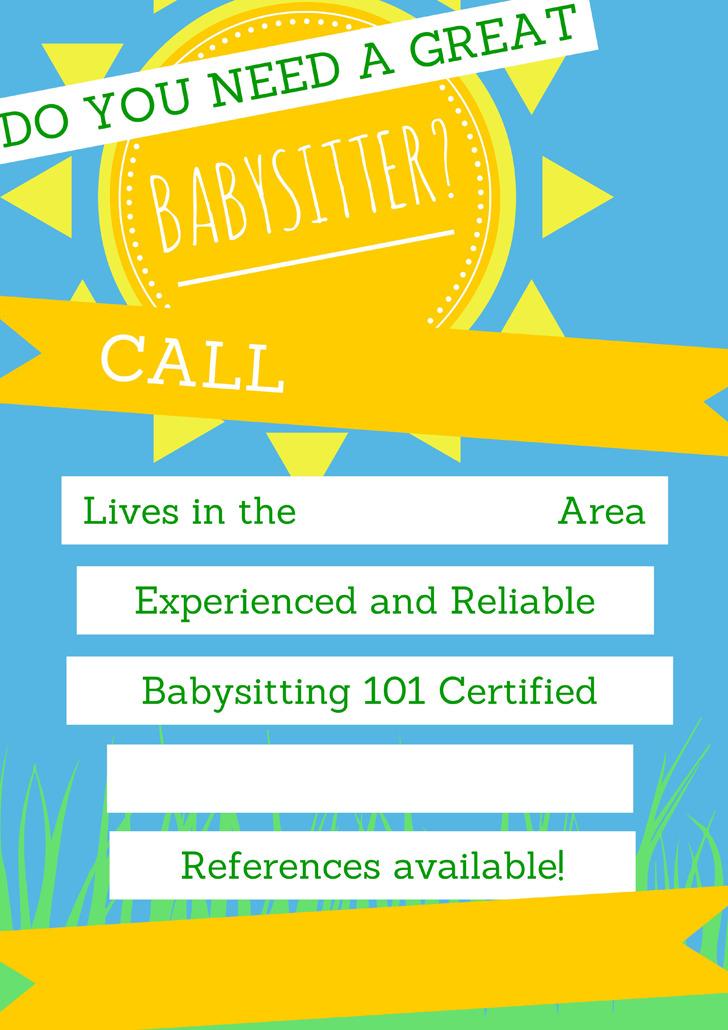 Babysitting Flyer 2