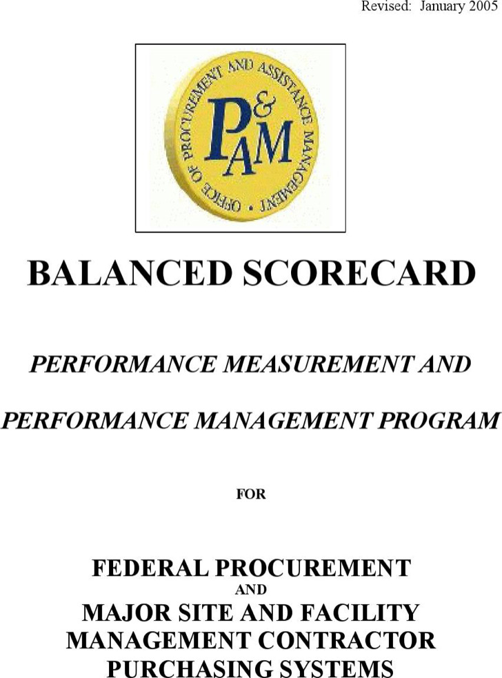 Balanced Performance Scorecard