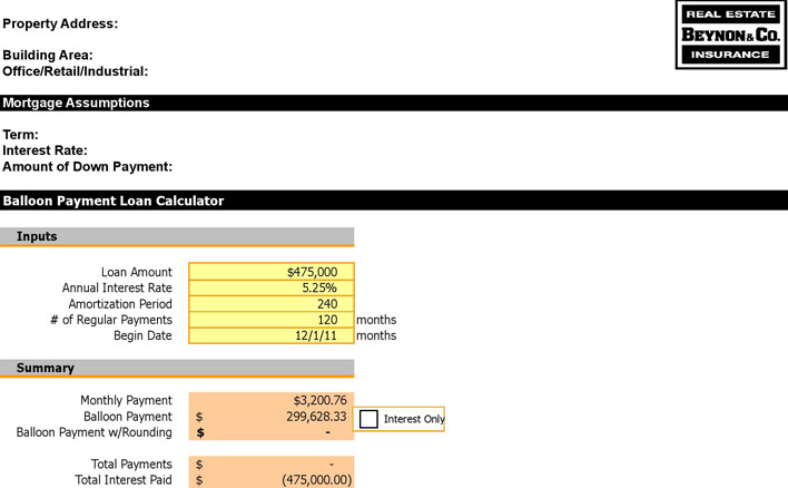 Balloon Loan Calculator | Download Free & Premium Templates, Forms