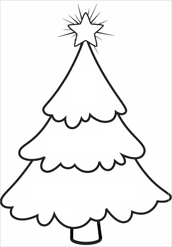 Christmas Tree Templates on new year card templates designs