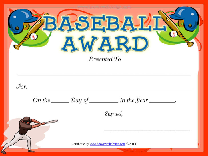 Baseball Certificate Templates  Download Free  Premium Templates