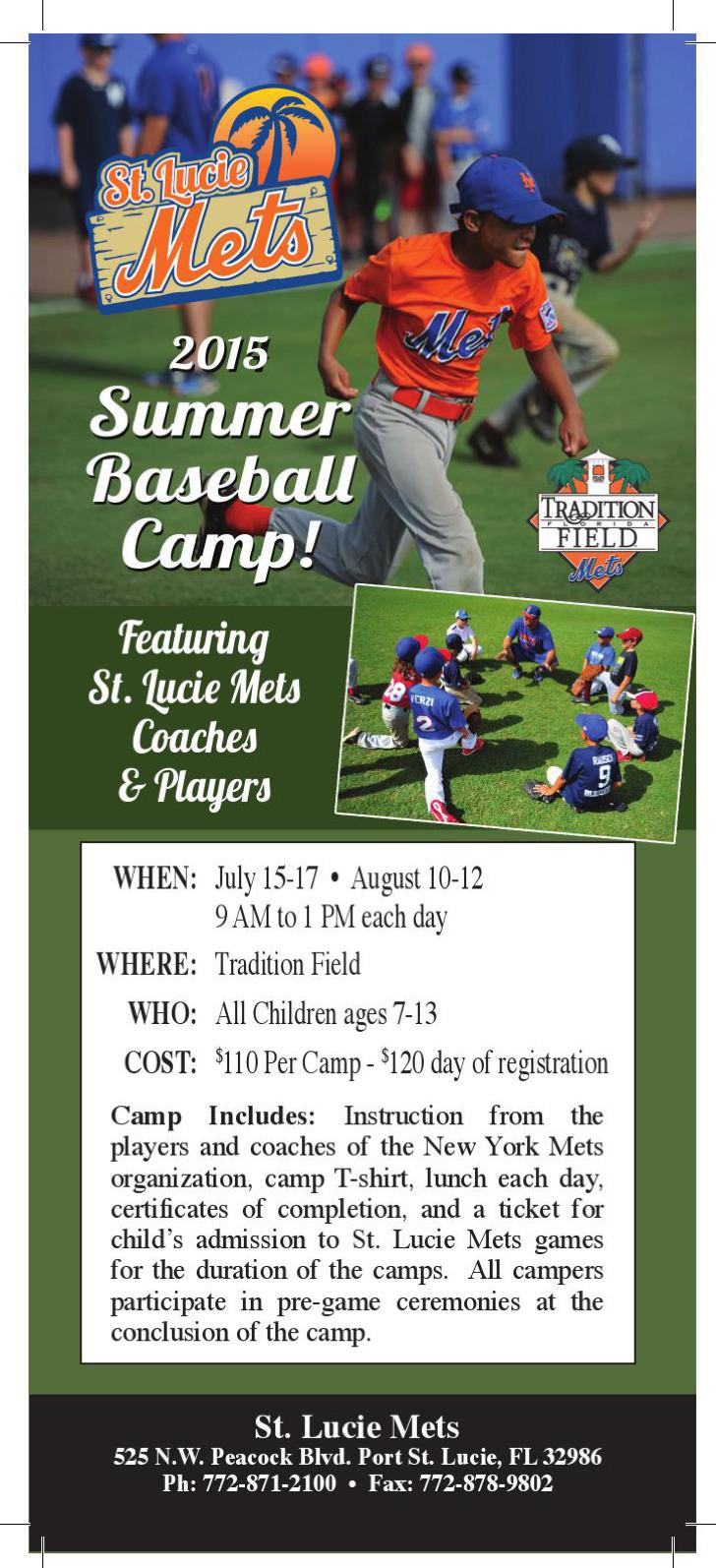 Baseball Camp Certificate Template