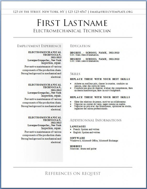 Basic Blank Resume Template
