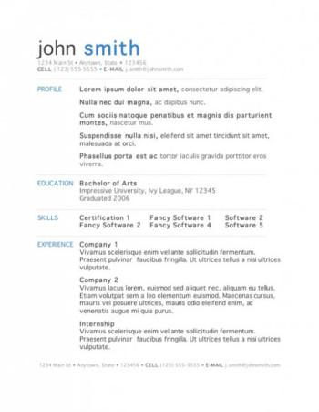 Basic Clean Resume Template