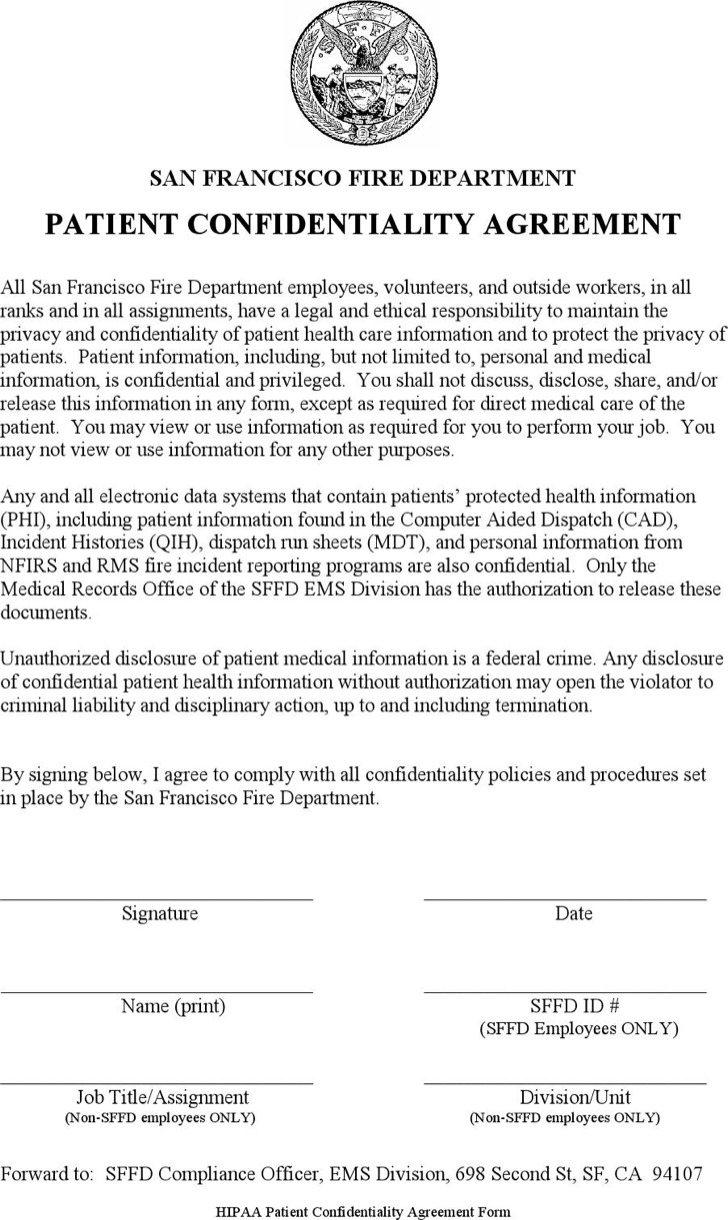 Basic Confidentiality Agreement Templates – Medical Confidentiality Agreement