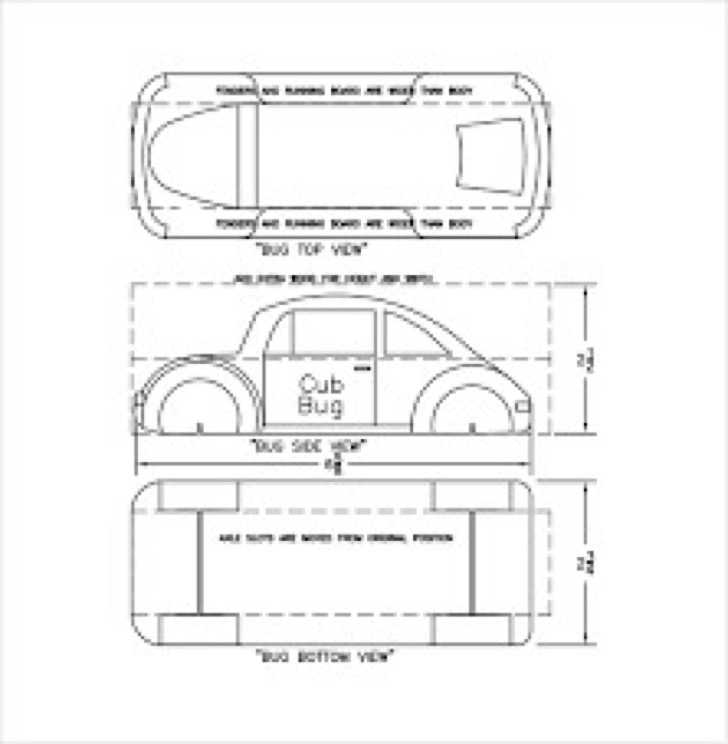Basic Pinewood Derby Car Template