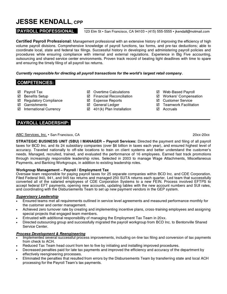 Basic Resume Template for Professional