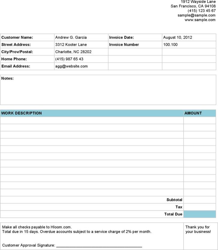 Basic Service Invoice11