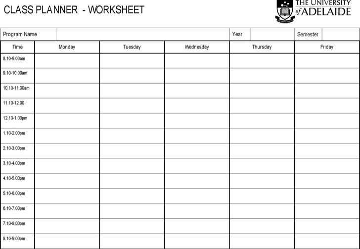 Basic Worksheet Template