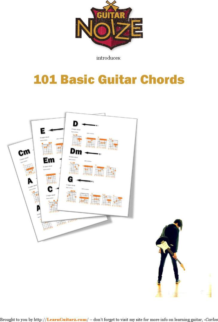 Bass Guitar Chords Chart For Beginner Example