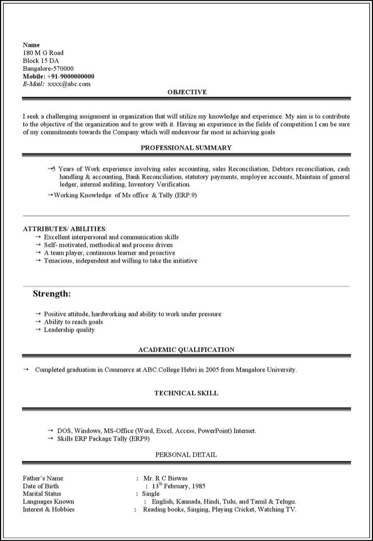 student resume template free premium