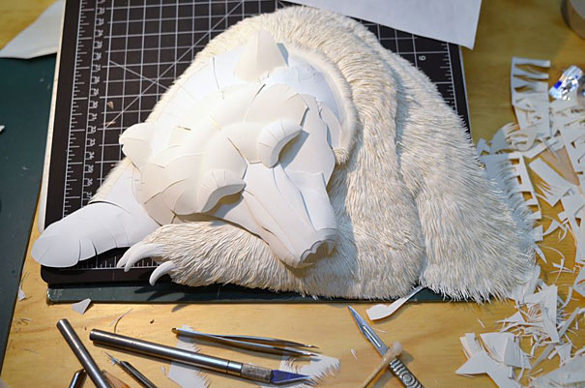 Bear Paper Art Design