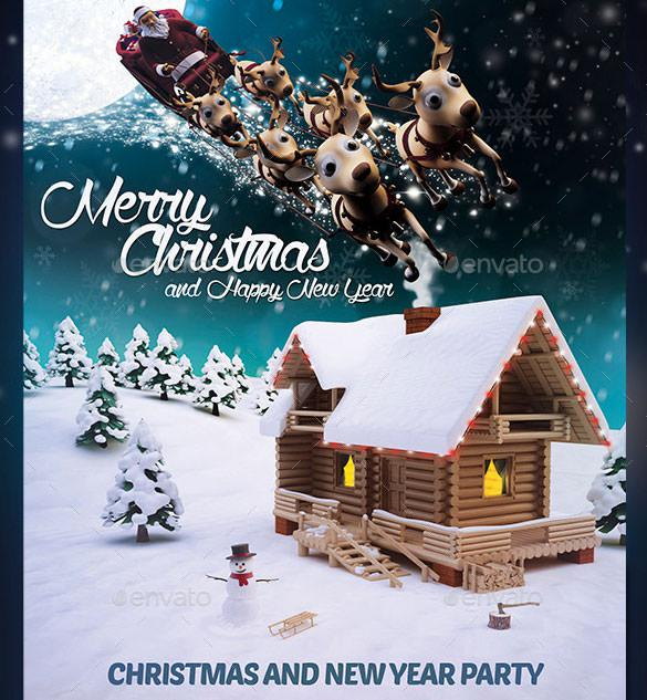 Beautiful Christmas Flyer Template Photoshop PSD Format