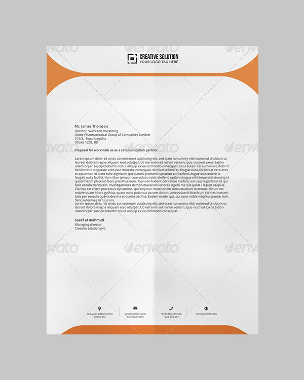 Beautiful Letterhead for Directors