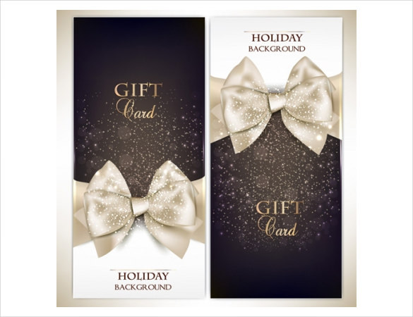 Beautiful Shiny Holiday Gift Card Template