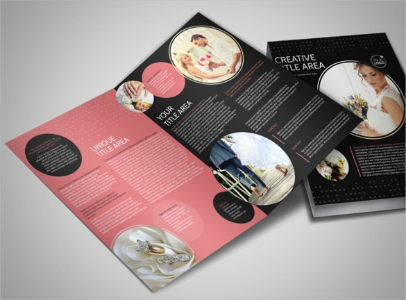 Beautiful Wedding Photography Bi-Fold Brochure Template