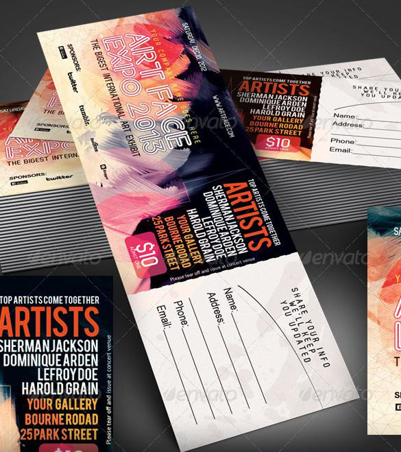 Beautifully Designed EXPO Ticket Template