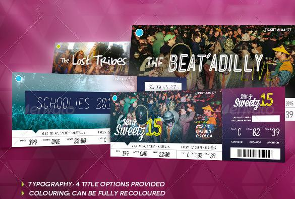 Beautifully Designed Party Ticket Template