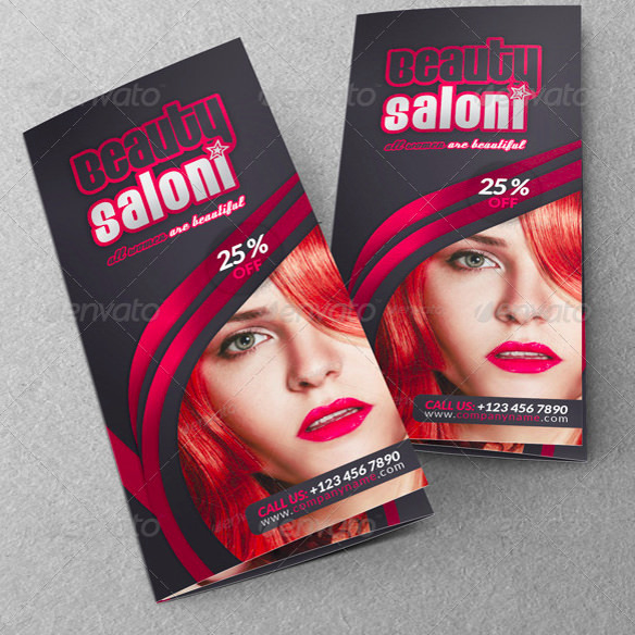 Beauty Saloon Business Trifold